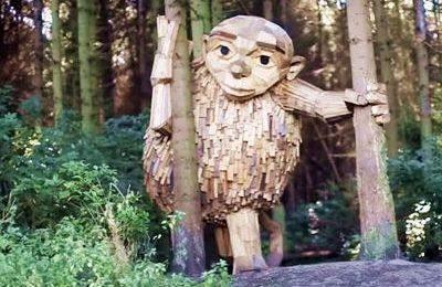 Wooden Giant in Copenhagen